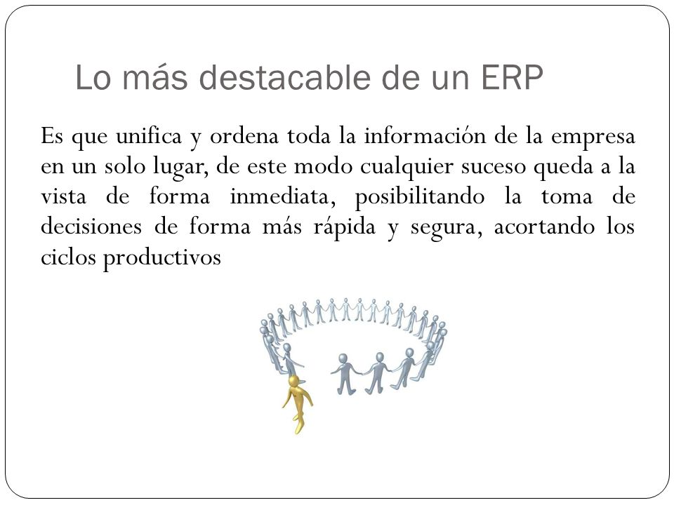 Lo más destacable de un ERP