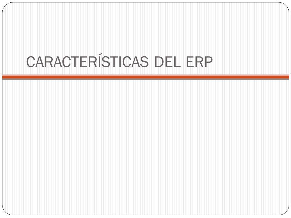 CARACTERÍSTICAS DEL ERP