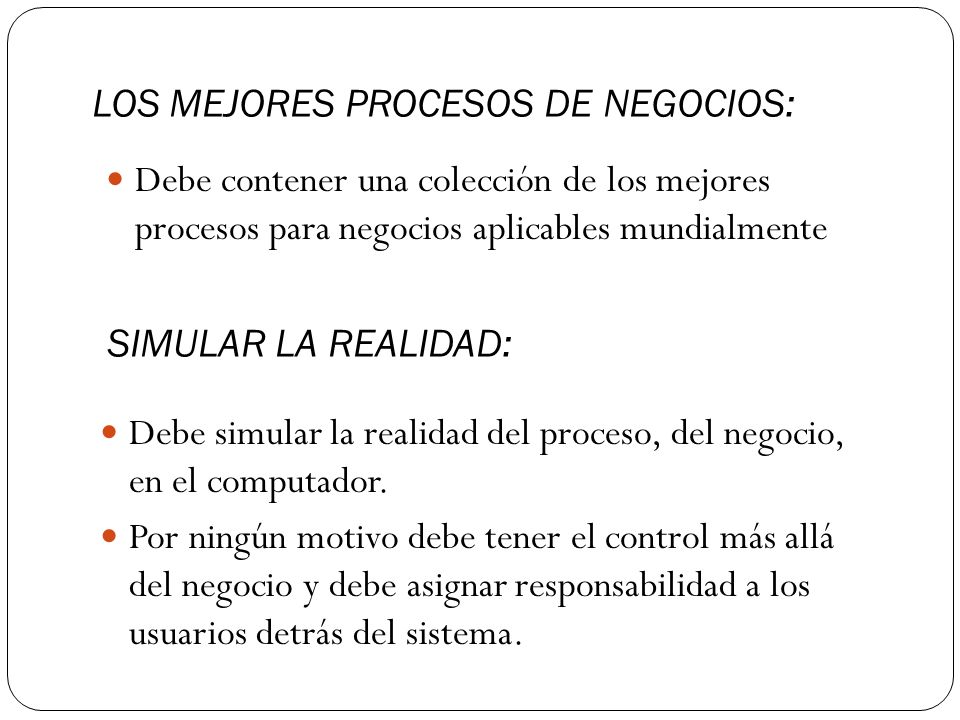 LOS MEJORES PROCESOS DE NEGOCIOS: