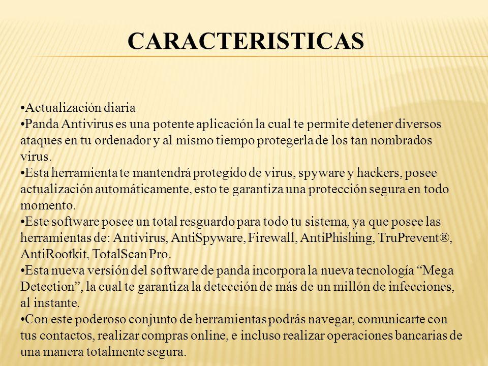 CARACTERISTICAS Actualización diaria