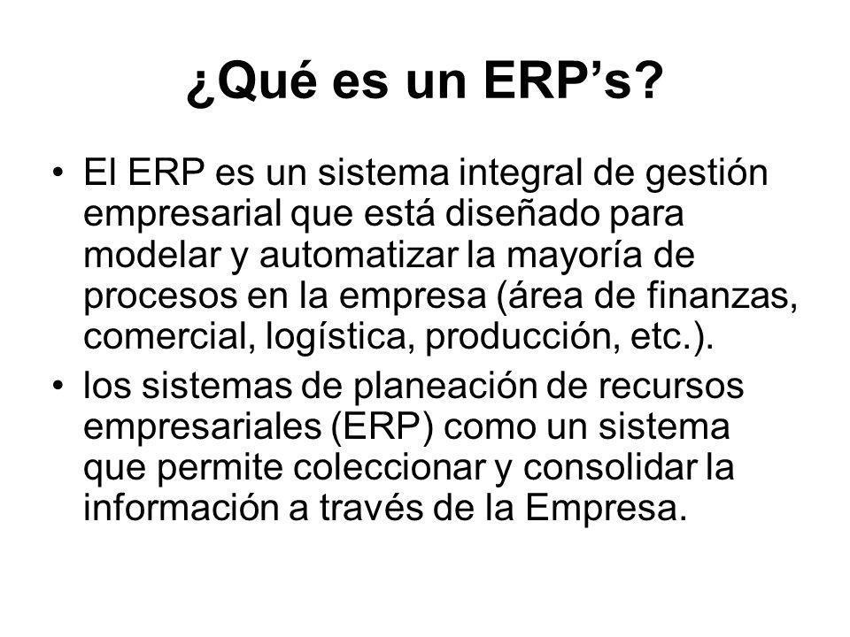 ¿Qué es un ERP's