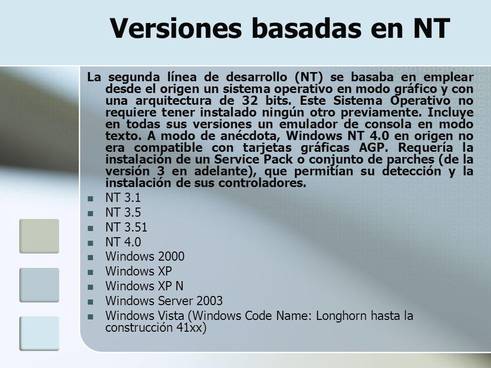 Versiones basadas en NT