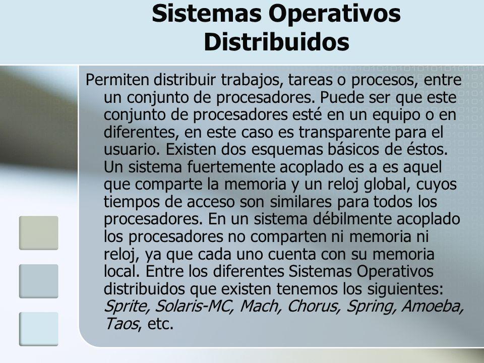 Sistemas Operativos Distribuidos