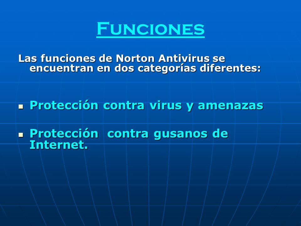 Funciones Protección contra virus y amenazas