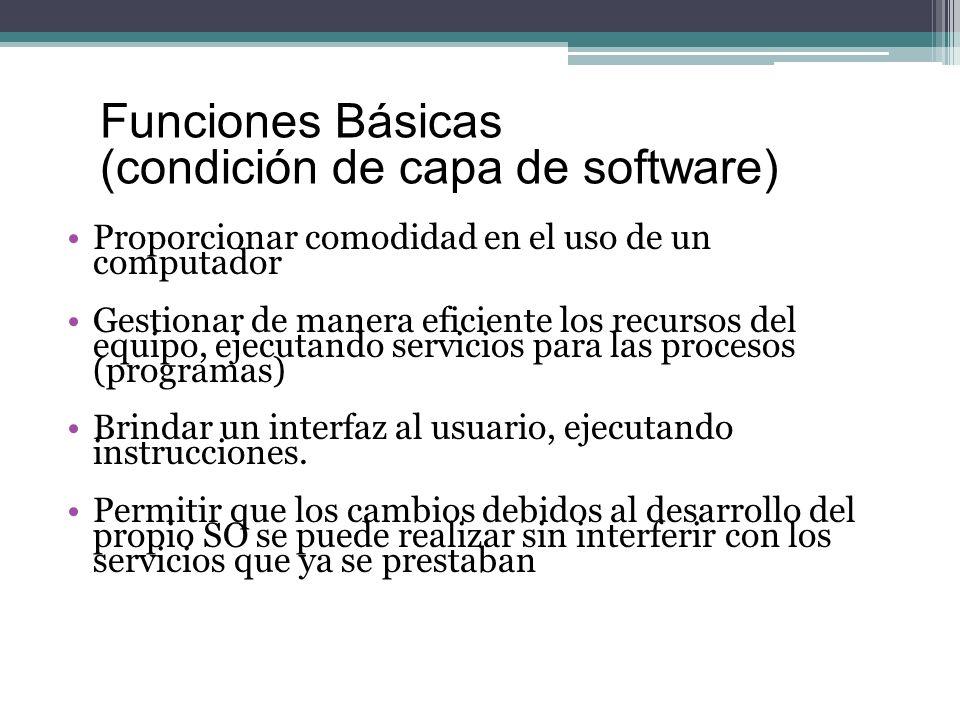 (condición de capa de software)