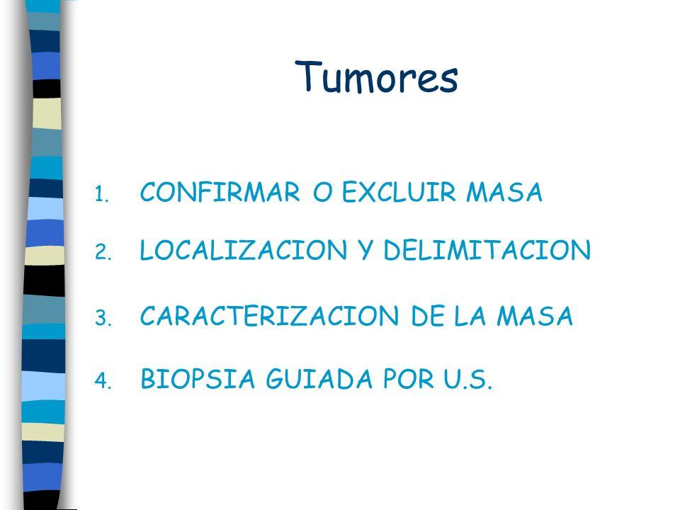 Tumores CONFIRMAR O EXCLUIR MASA LOCALIZACION Y DELIMITACION