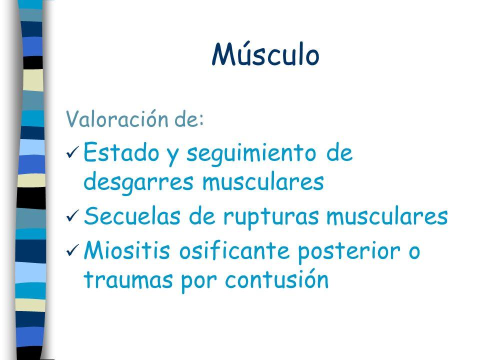 Músculo Estado y seguimiento de desgarres musculares