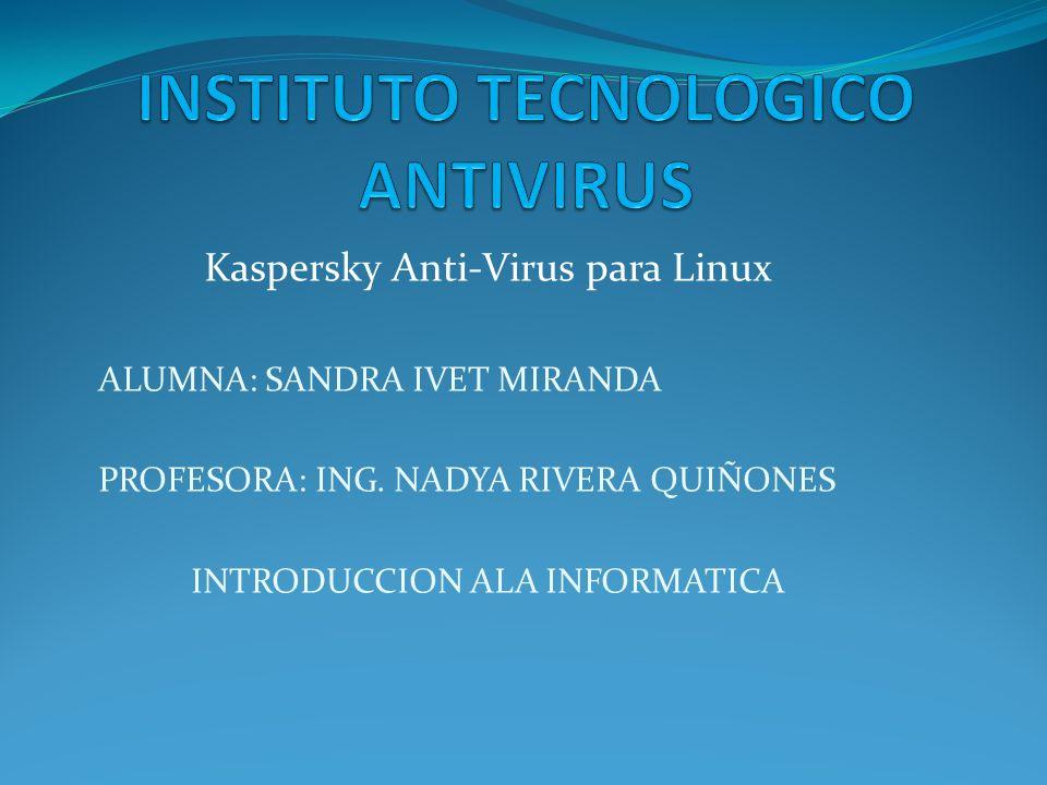 INSTITUTO TECNOLOGICO ANTIVIRUS