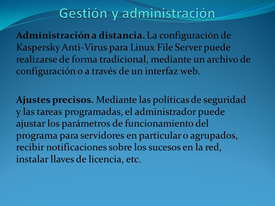 Gestión y administración