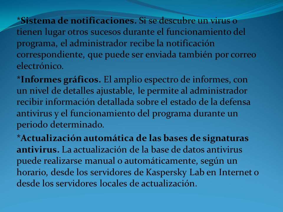 Sistema de notificaciones