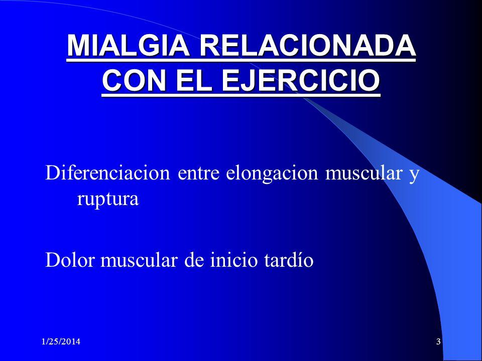 MIALGIA RELACIONADA CON EL EJERCICIO