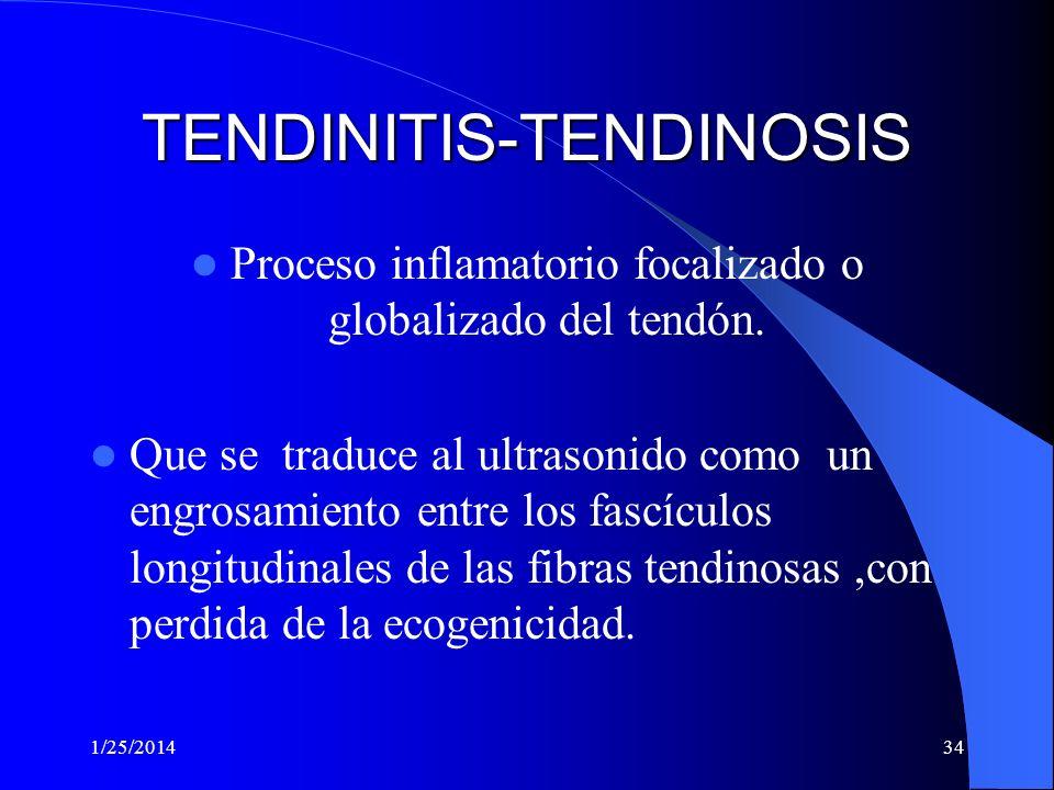 TENDINITIS-TENDINOSIS