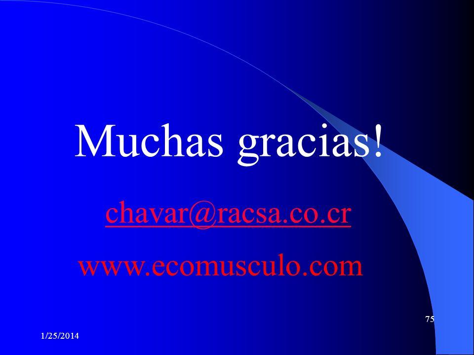 Muchas gracias! chavar@racsa.co.cr www.ecomusculo.com 3/24/2017