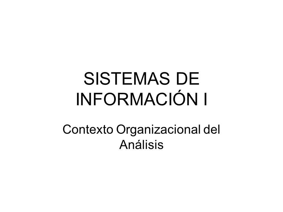 SISTEMAS DE INFORMACIÓN I