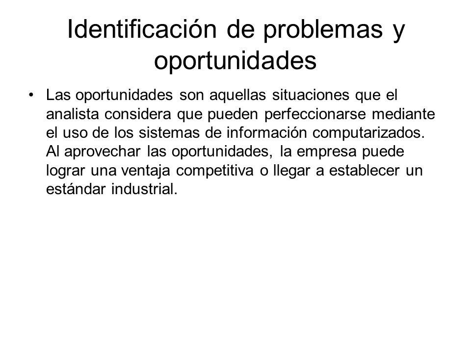 Identificación de problemas y oportunidades