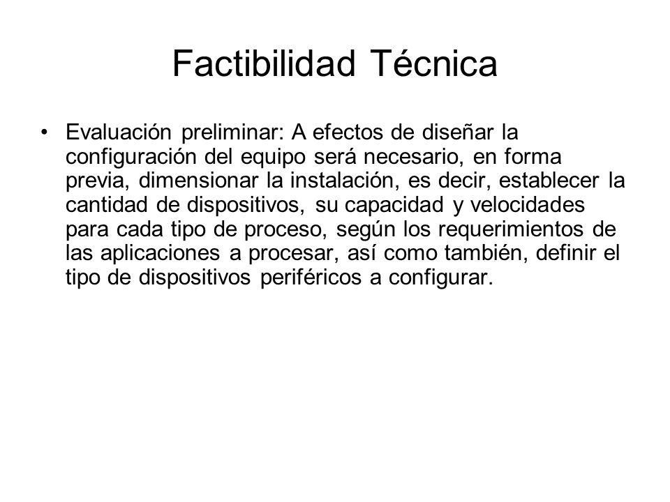 Factibilidad Técnica