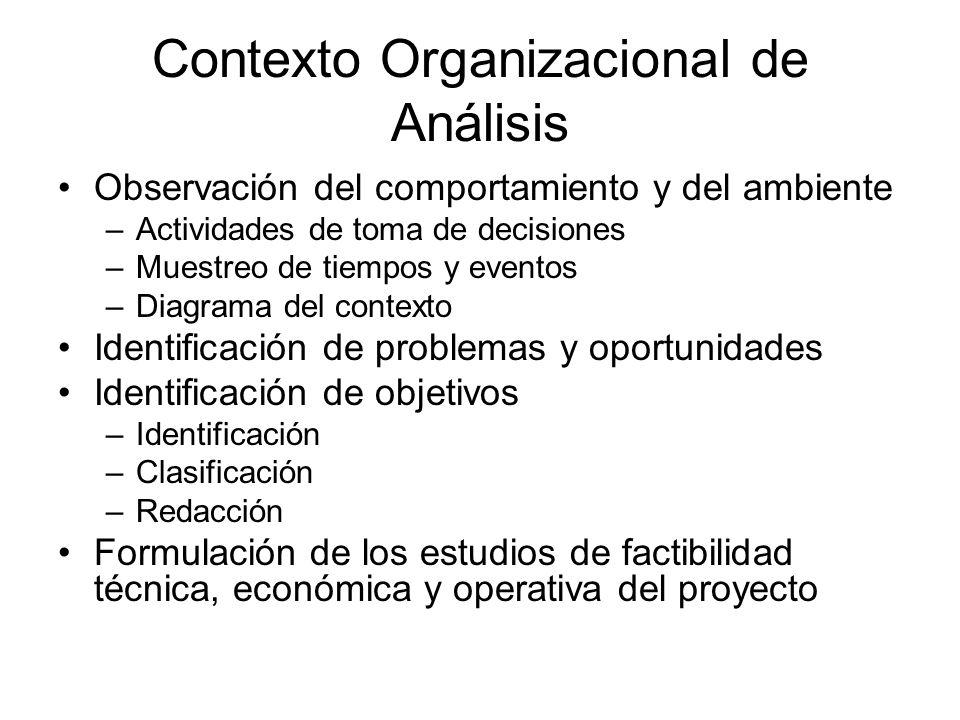 Contexto Organizacional de Análisis