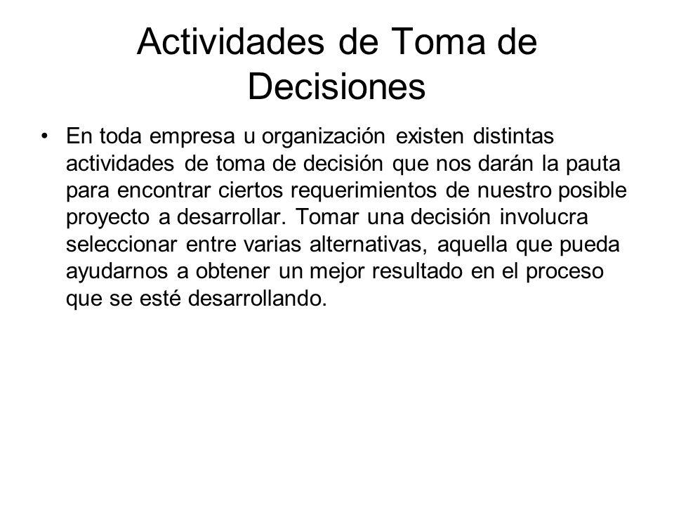 Actividades de Toma de Decisiones