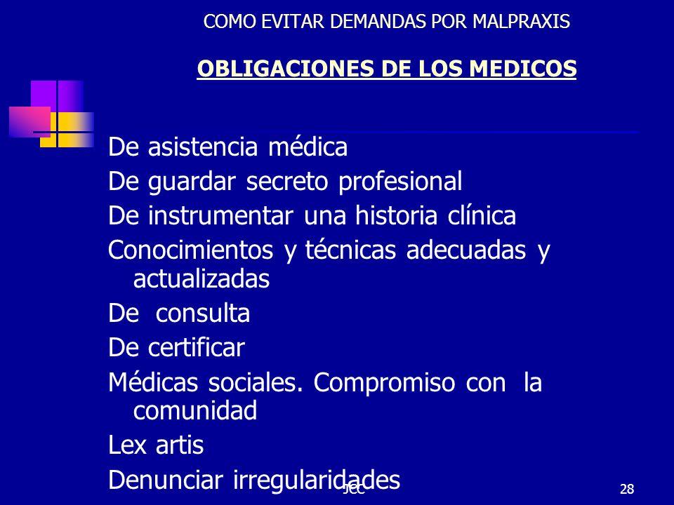 COMO EVITAR DEMANDAS POR MALPRAXIS OBLIGACIONES DE LOS MEDICOS