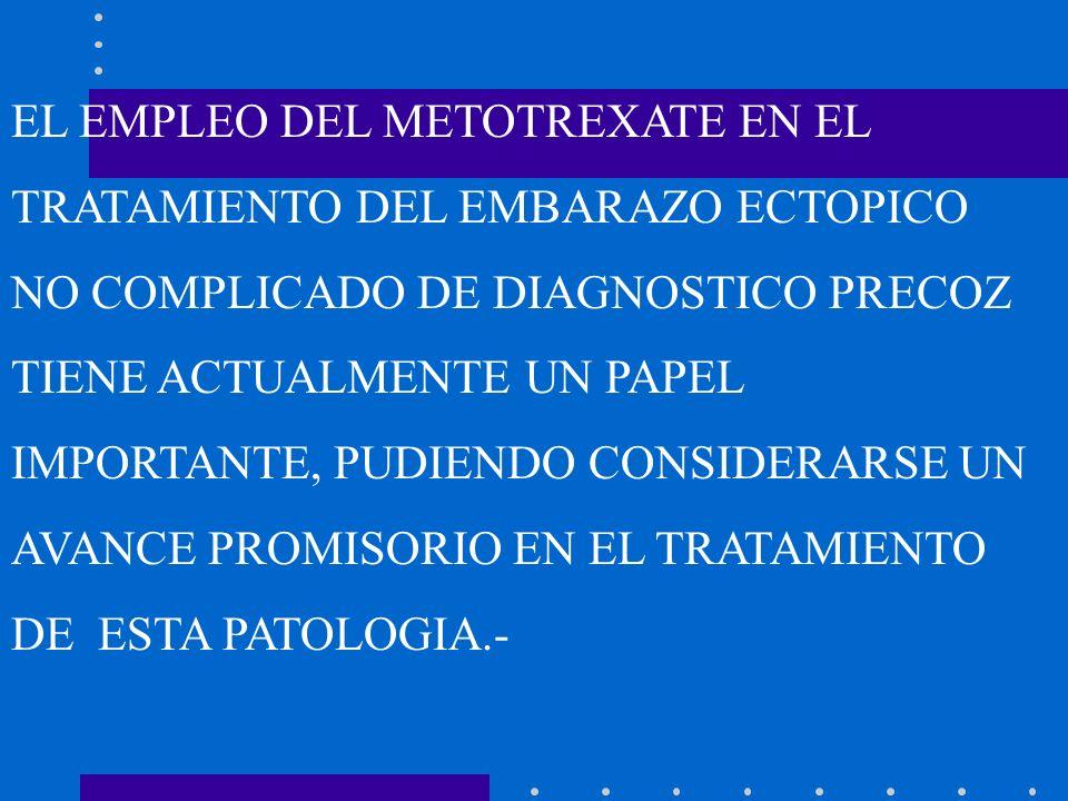 EL EMPLEO DEL METOTREXATE EN EL