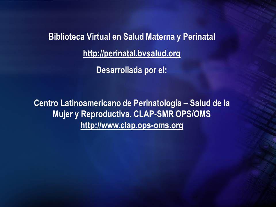 Biblioteca Virtual en Salud Materna y Perinatal