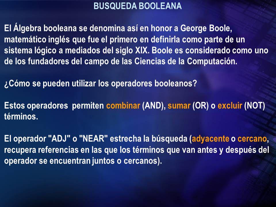 BUSQUEDA BOOLEANA
