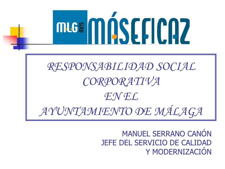 RESPONSABILIDAD SOCIAL CORPORATIVA EN EL AYUNTAMIENTO DE MÁLAGA