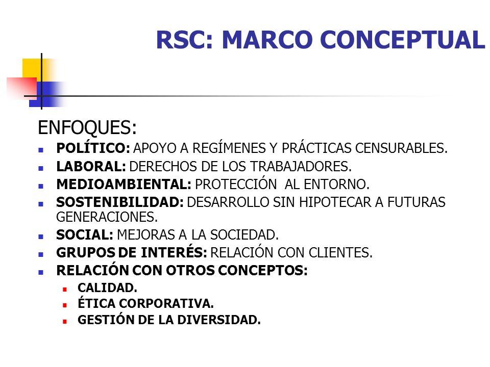 RSC: MARCO CONCEPTUAL ENFOQUES: