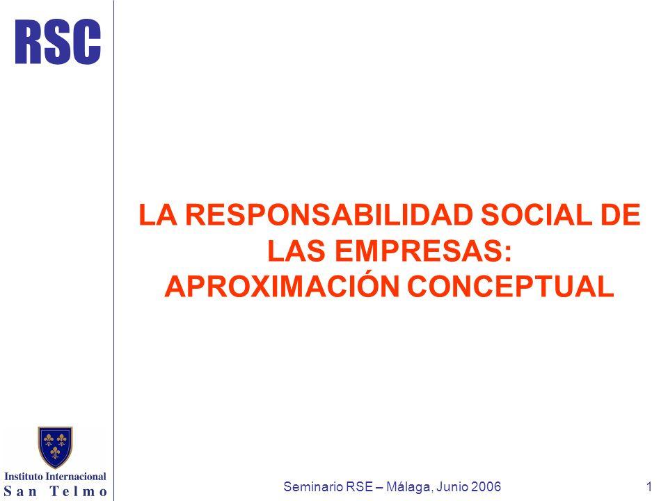 LA RESPONSABILIDAD SOCIAL DE LAS EMPRESAS: APROXIMACIÓN CONCEPTUAL