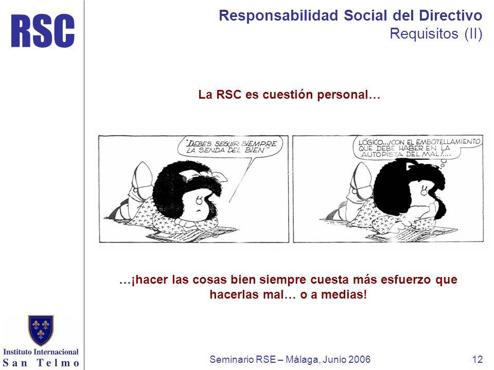 La RSC es cuestión personal…