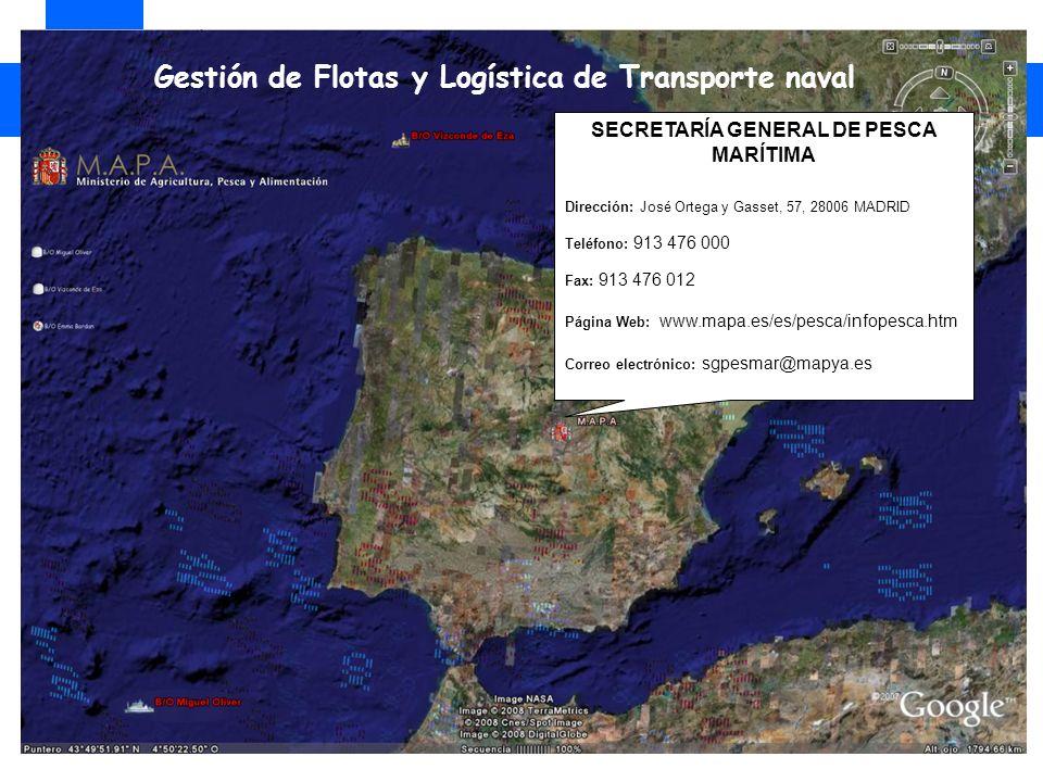 SECRETARÍA GENERAL DE PESCA MARÍTIMA