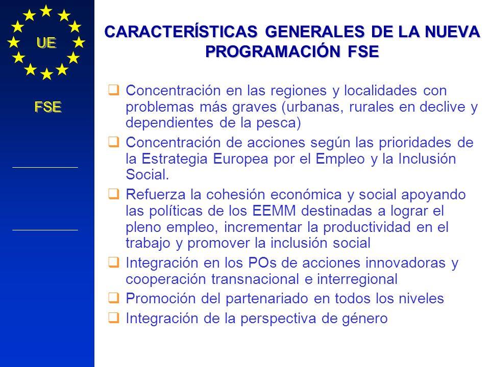 CARACTERÍSTICAS GENERALES DE LA NUEVA PROGRAMACIÓN FSE