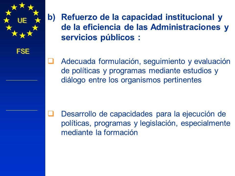 Refuerzo de la capacidad institucional y de la eficiencia de las Administraciones y servicios públicos :