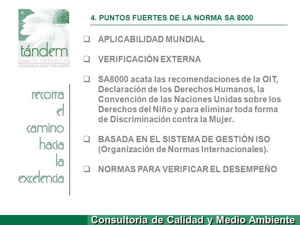 4. PUNTOS FUERTES DE LA NORMA SA 8000