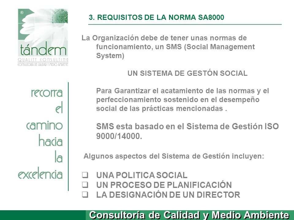 3. REQUISITOS DE LA NORMA SA8000