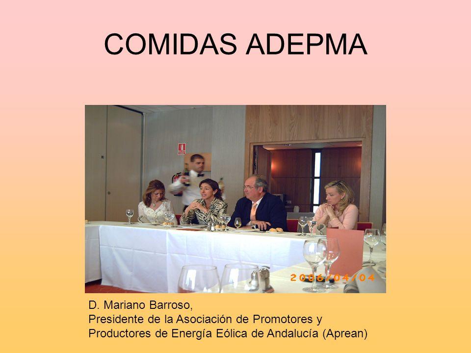 COMIDAS ADEPMA D. Mariano Barroso,