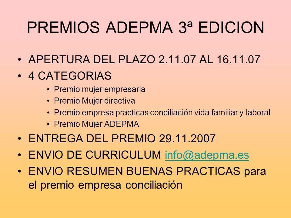 PREMIOS ADEPMA 3ª EDICION