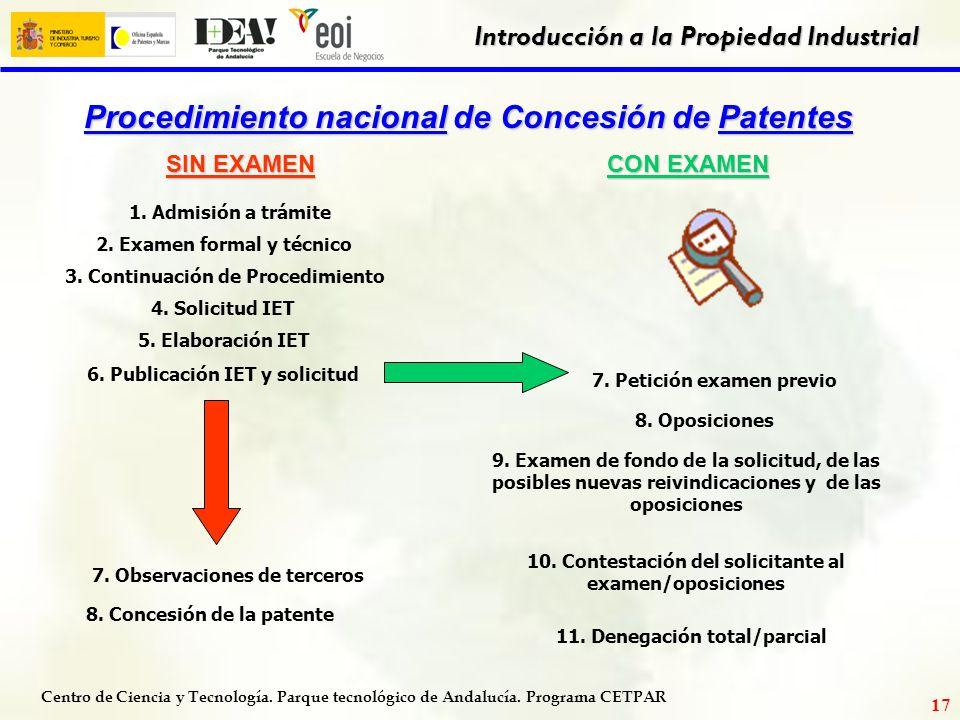 Procedimiento nacional de Concesión de Patentes