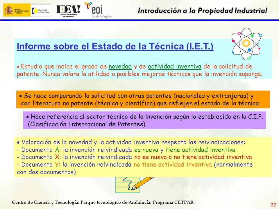 Informe sobre el Estado de la Técnica (I.E.T.)