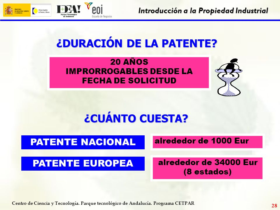 Servicios de propiedad industrial ofrecidos por la oficina for Oficina de patentes y marcas europea