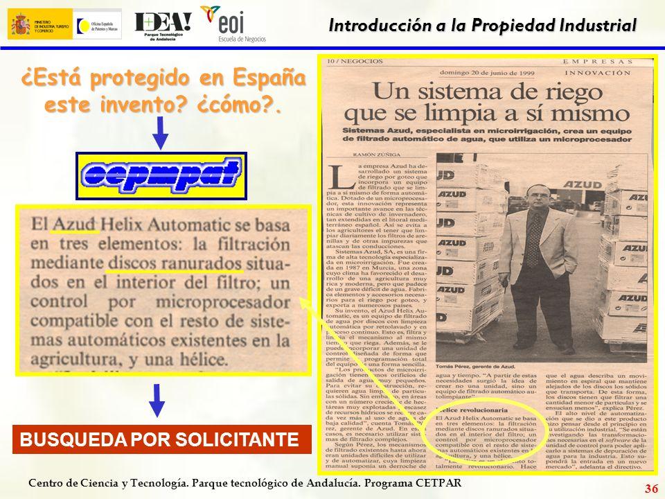 ¿Está protegido en España este invento ¿cómo .