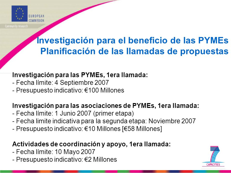 Investigación para el beneficio de las PYMEs