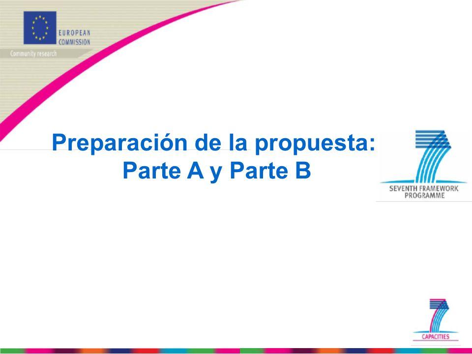 Preparación de la propuesta: