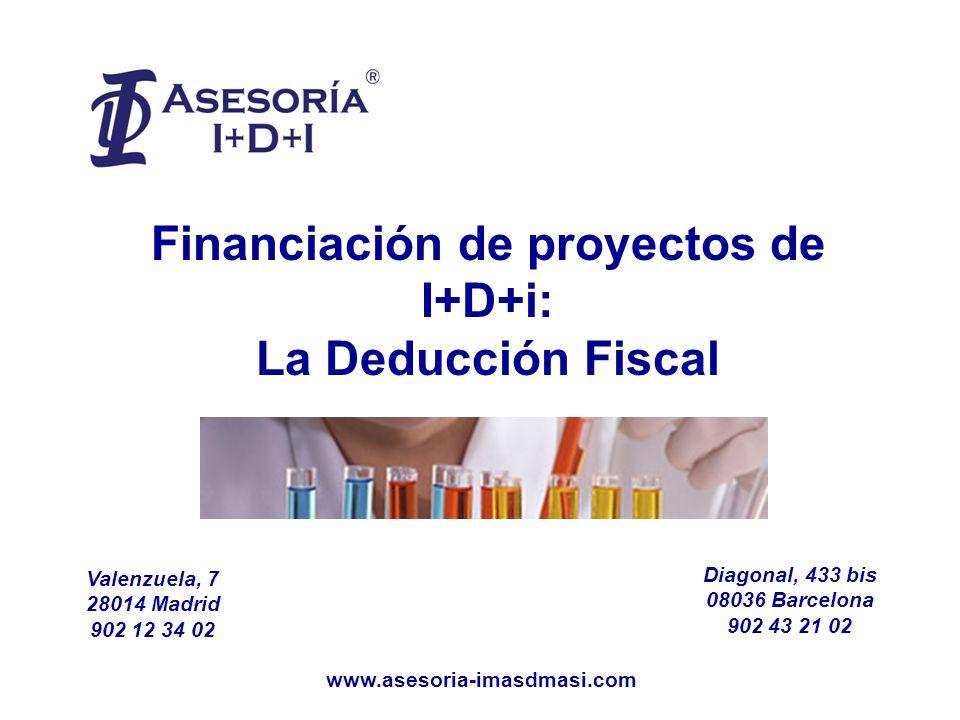 Financiación de proyectos de I+D+i: La Deducción Fiscal