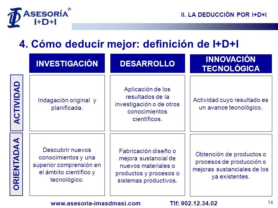 II. LA DEDUCCIÓN POR I+D+I INNOVACIÓN TECNOLÓGICA