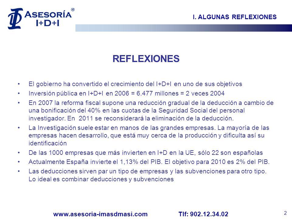 REFLEXIONES I. ALGUNAS REFLEXIONES