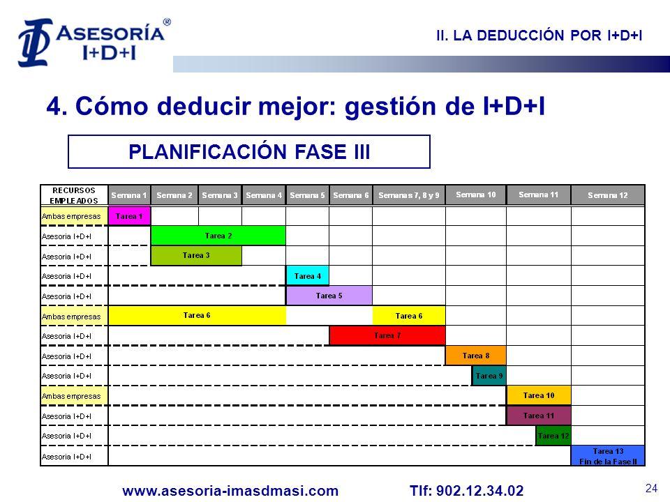 II. LA DEDUCCIÓN POR I+D+I PLANIFICACIÓN FASE III