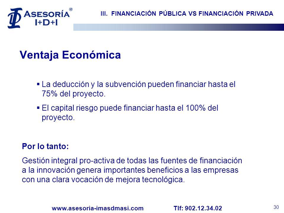 III. FINANCIACIÓN PÚBLICA VS FINANCIACIÓN PRIVADA