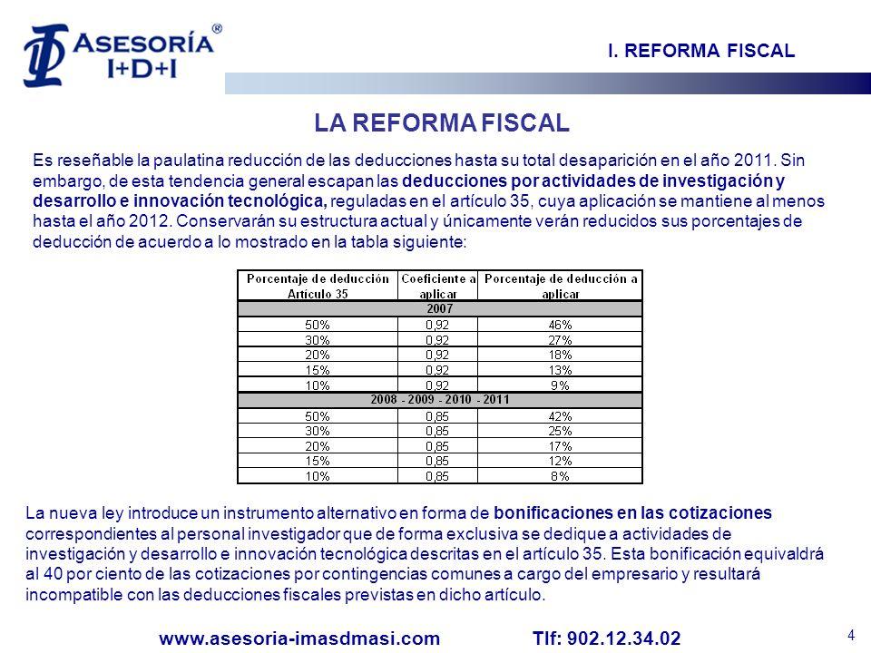 LA REFORMA FISCAL I. REFORMA FISCAL