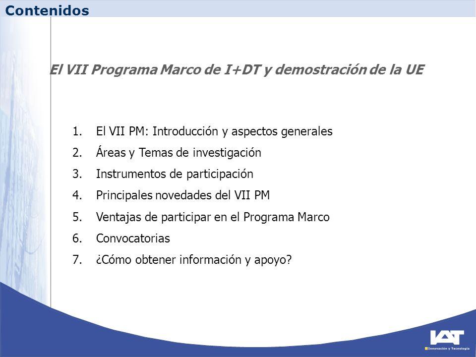 El VII Programa Marco de I+DT y demostración de la UE